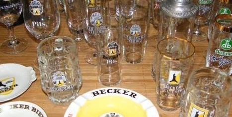 Donnerbräu und Brauerei Becker Gläser